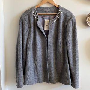 LAURA PLUS Wool Grey Jacket 22 NWT